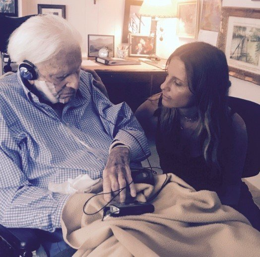 Billy Graham and his granddaughter, Jerushah Armfield (Courtesy: Jersushah Armfield).