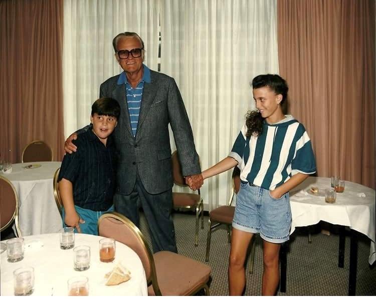 Billy Graham with two of his grandchildren (Courtesy: Jerushah Graham).