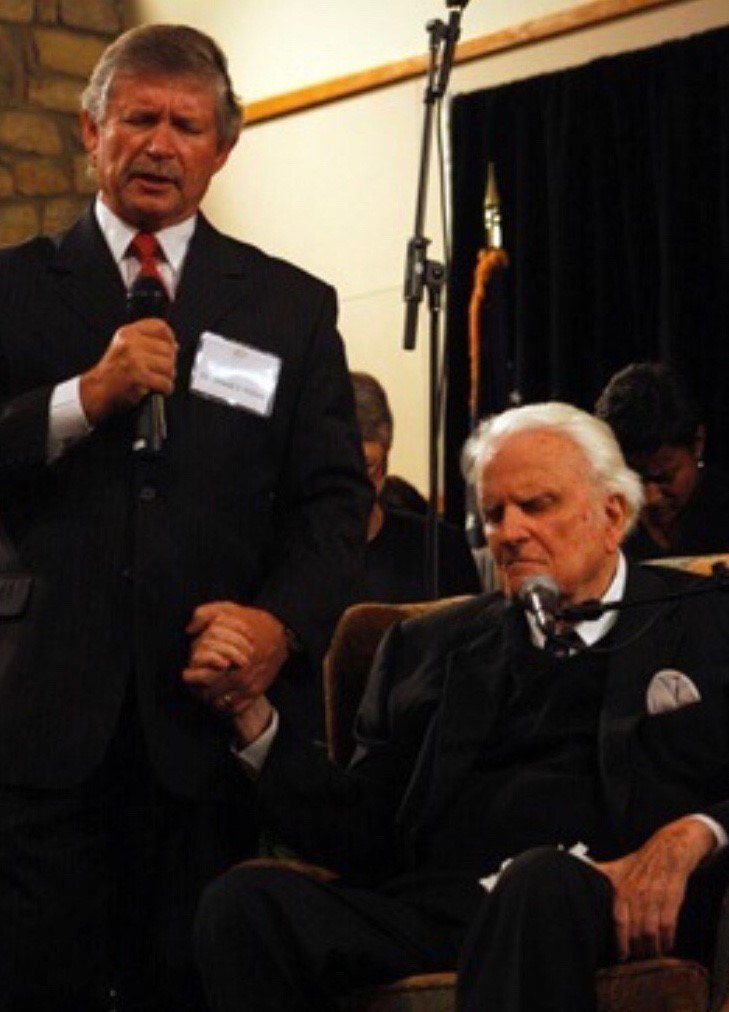 Reverend Billy Graham pictured with close friend and pastor, Dr. Donald Wilton (Courtesy: Dr. Donald Wilton).