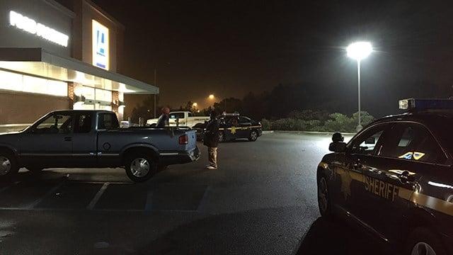 Scene of incident at Aldi's on Chalmers Road. (11/7/17 FOX Carolina)