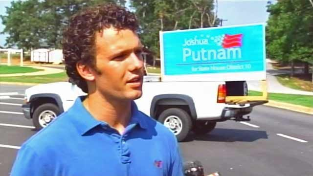 Joshua Putnam talks to FOX Carolina during his campaign. (File/FOX Carolina)