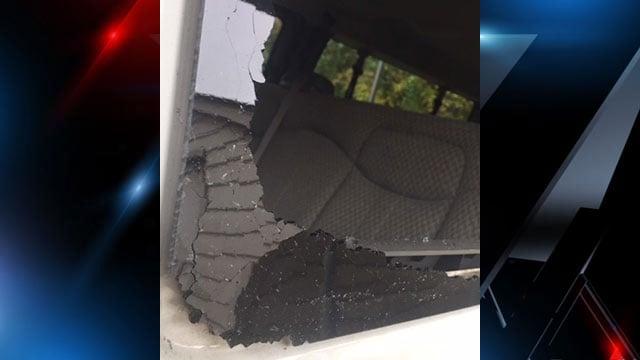 The van had $1,600 in damage. (Source: FOX Carolina).