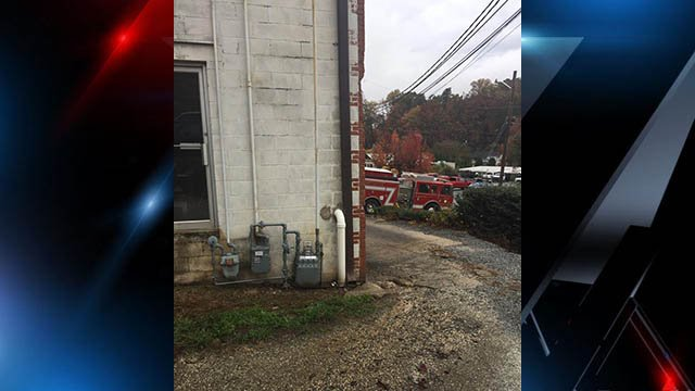 Gas leak near Tryon Historical Museum (Source: Tryon Fire Department Facebook)
