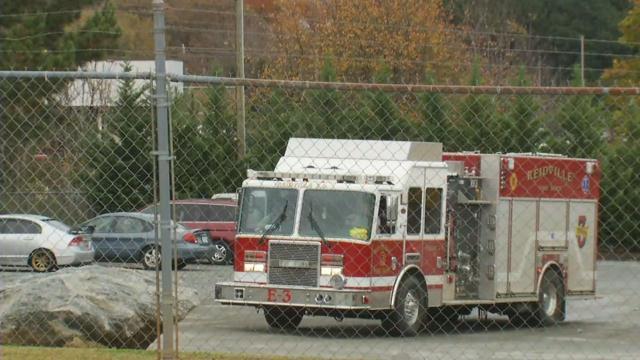 Fire truck at Pratt Industries (FOX Carolina)