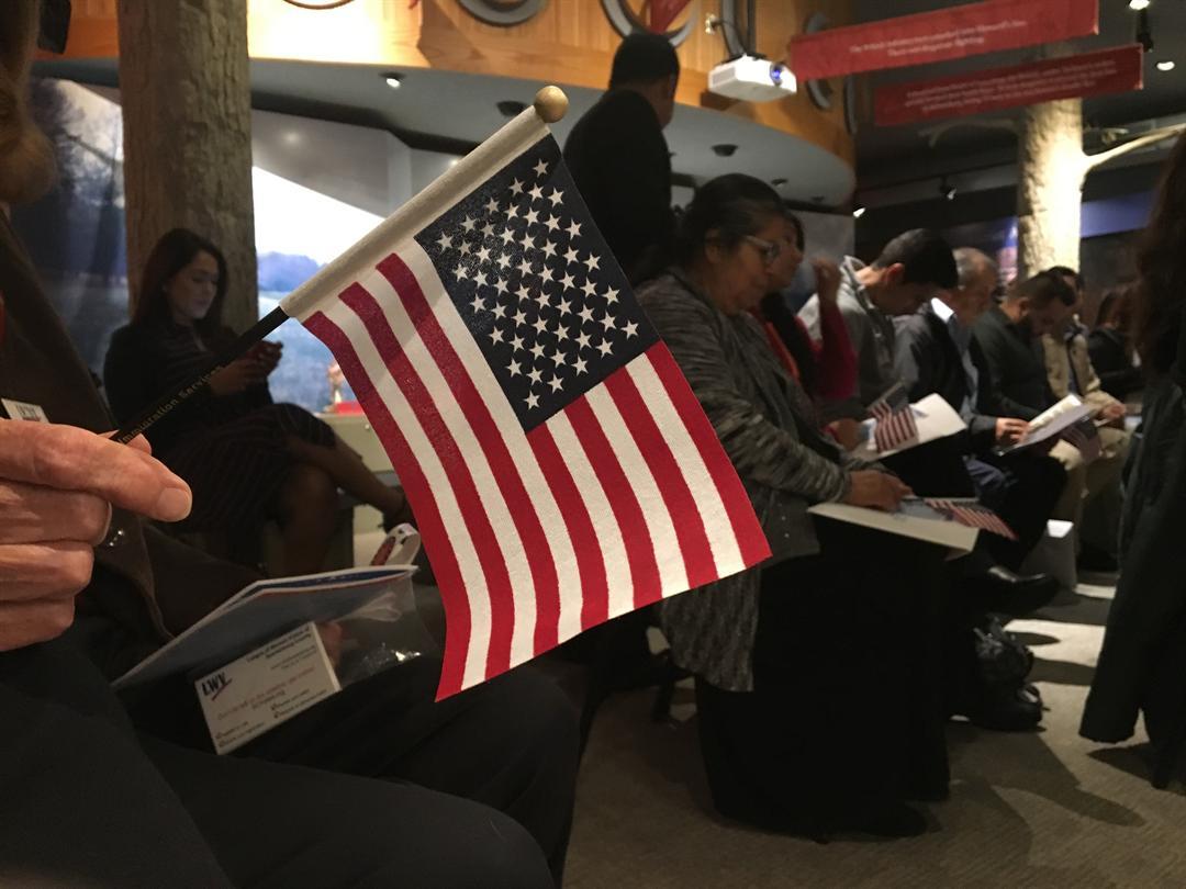 Naturalization ceremony for 18 new U.S. citizens (FOX Carolina: 11/9/17).