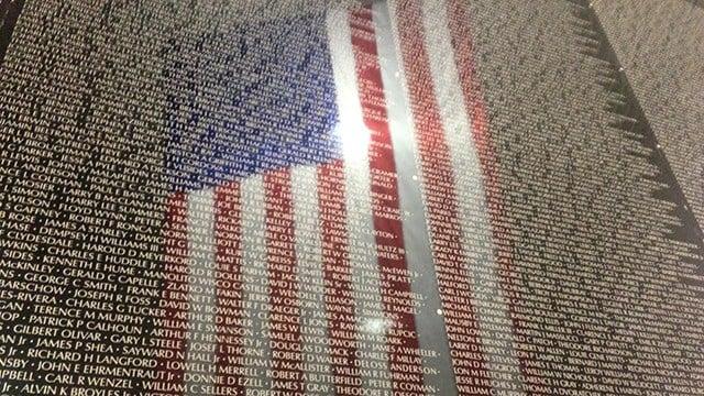 Vietnam Moving Wall memorial (Nov. 9, 2017/FOX Carolina)