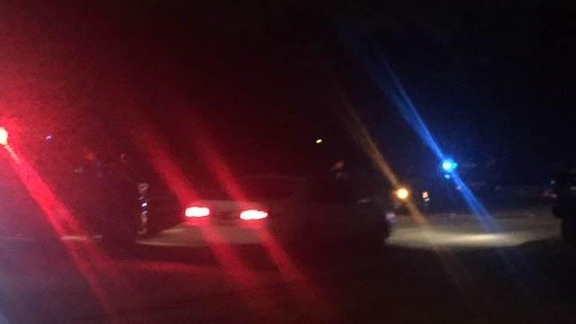 Scene of crash in Greenville Co. (FOX Carolina/ 11/9/17)