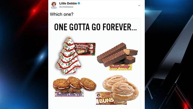 Screenshot of tweet from Little Debbie. (Source: Little Debbie Twitter account)
