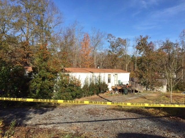 Scene of the crime in Gaffney (FOX Carolina/ Nov. 10, 2017)
