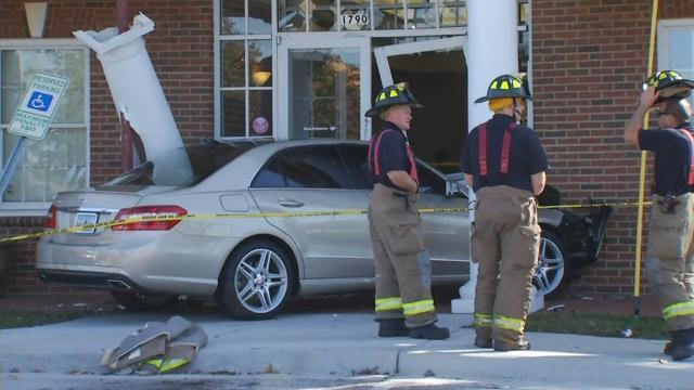 Car crashes into Bank of America (Nov. 10, 2017/FOX Carolina)