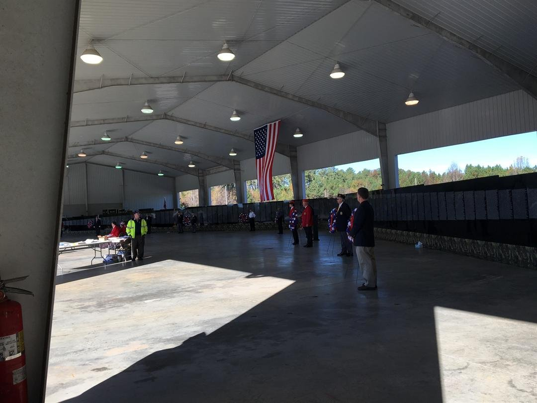 Opening ceremony for Moving Vietnam Wall in Oconee County (FOX Carolina: 11/10/17).
