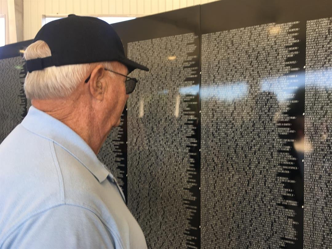 Oconee County Veterans Council hosts opening ceremony for Moving Vietnam Memorial Wall (11/10/17).