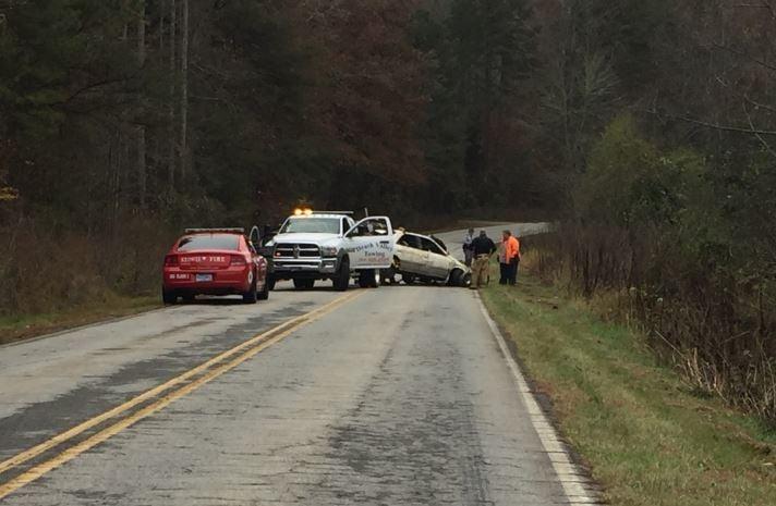 Scene of the crash of Keowee River Road (FOX Carolina/ Nov. 13, 2017)