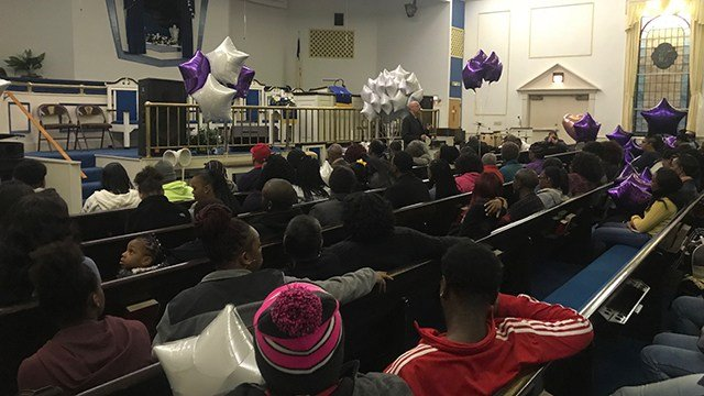 Vigil held for Dawkins. (11/13/17 FOX Carolina)