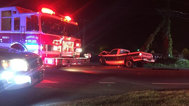 Scene of collision on SC 418 at Jenkins Bridge Road. (11/13/17 FOX Carolina)