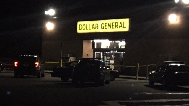 Scene of armed robbery at the Dollar General on Augusta Road. (11/13/17 FOX Carolina)