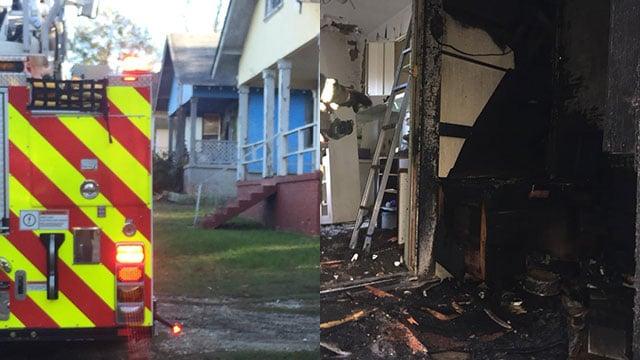 Suspicious fire at vacant Spartanburg property (Source: Spartanburg FD)