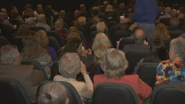 Sylva residents got a sneak peek of a new movie coming to theaters in December (FOX Carolina)