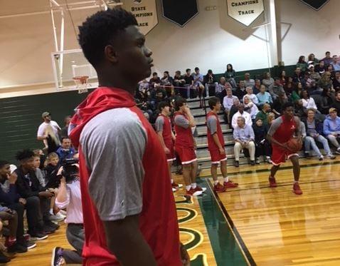 Zion Williamson in the Spartanburg Day School season opener (Nov. 14, 2017/ FOX Carolina)