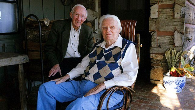 Russ Busby and Rev. Billy Graham (Source: Billy Graham Evangelistic Association)