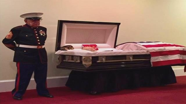 Upstate Vietnam vet makes good on final promise to fellow Marine, stands guard at casket