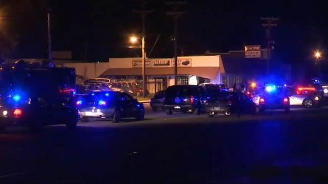 Scene of fatal officer-involved shooting in Greenville Co. (FOX Carolina/ 11/19/17)