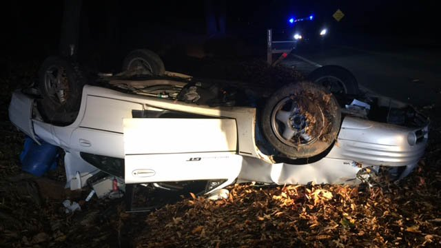 Scene of Anderson Co. crash (FOX Carolina/11/20/17)
