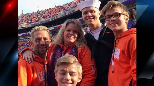 The Scruggs family at Clemson University (Source: Marci Scruggs)