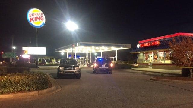Scene at the Burger King on 28 Bypass. (11/20/17 FOX Carolina)