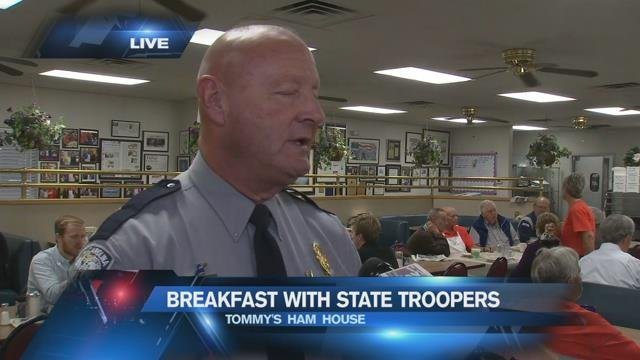 Troopers talk holiday travel safety over breakfast in Greenville
