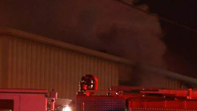 Storage fire on Pelham Road. (FOX Carolina 11/21/17)