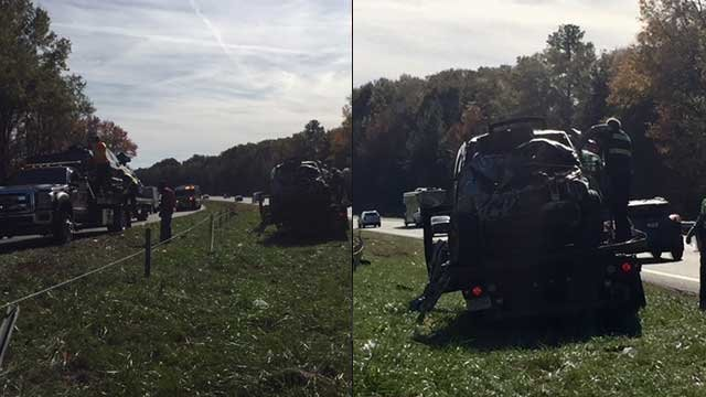 The accident shut down I-26 for almost two hours. (Source: FOX Carolina).