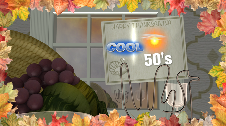 Cool Wednesday followed by temperatures in high 50s for Thanksgiving Day