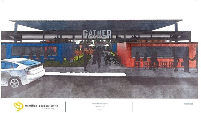 Rendering of Gather GVL (Source: City of Greenville)