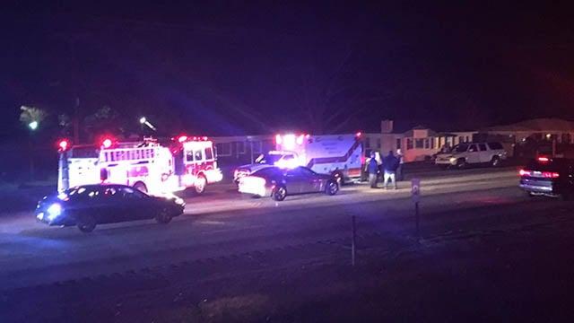 Scene of fatal Greenville Co. crash. (FOX Carolina./ 11/23/17)