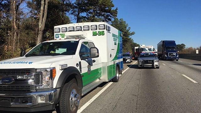 Scene of fatal Greenville Co. crash (FOX Carolina/ 11/24/17)