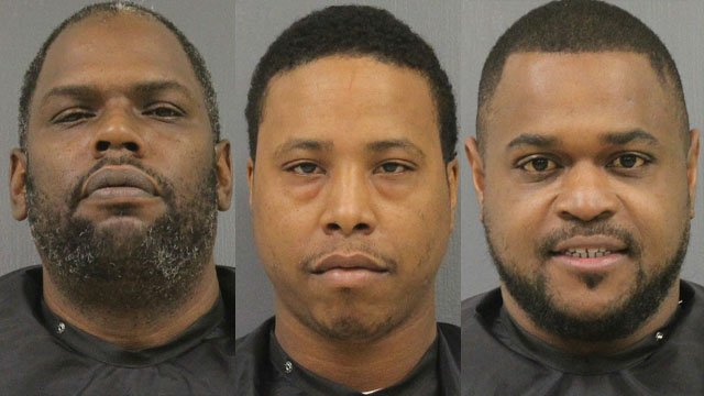 Police identified the suspects as Lamont Dawkins, Roland Foster, and Jeffrey Miller. (Source: CCSO)