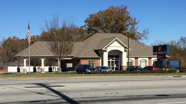 First Piedmont Bank (Nov. 27, 2017/FOX Carolina)