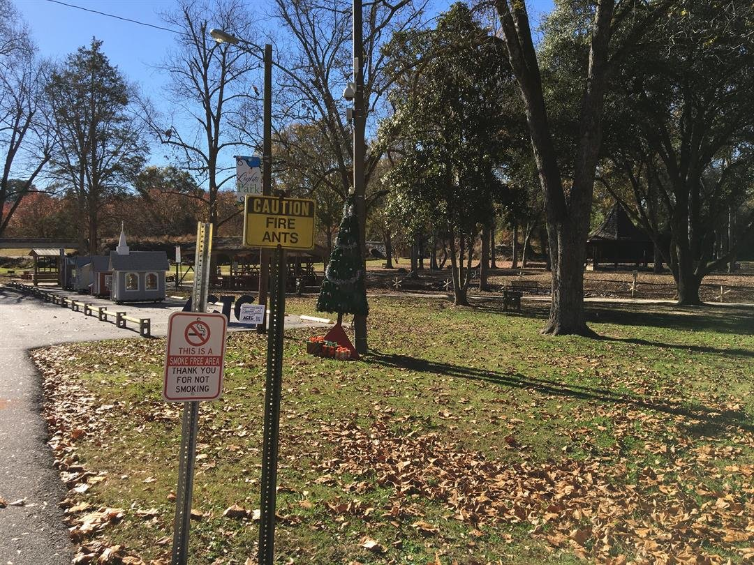 The city removed the sign banning weapons from Mineral Spring Park in Williamston. (FOX Carolina: 11/27/17)