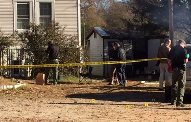 Forensics team mark and collect evidence (FOX Carolina)