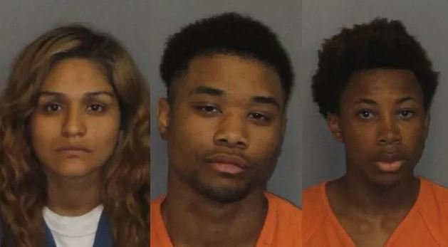 Left to right: Karina Galarza, Fabian Green and Davian Holman (Source: LCSO)