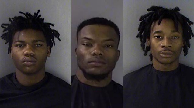 L to R: Kemad White, Zantravious Hall, Cedric Elmore, Jr. (Source: Greenwood Police Department)