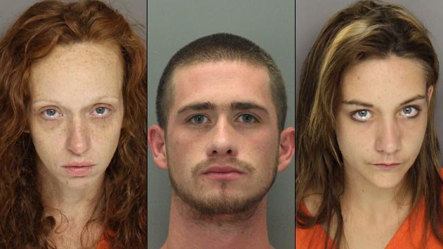 From left: Brook Blue, Ricci Allen, and Kathleen Gerich. (Greenville County Sheriff's Office)