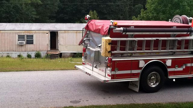 Deputies say a drug lab was found in this Landrum home. (Sept. 21, 2011/FOX Carolina)