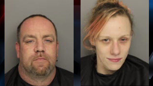 Erick Landon Hart (L) and Ashley Marie Gilstrap (R). (Source: Greenville County Detention Center)