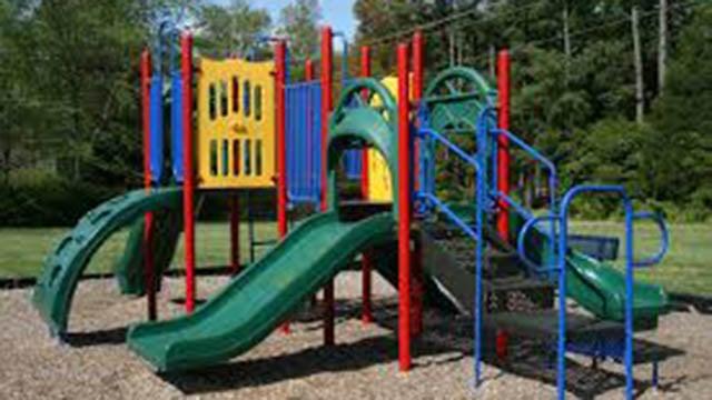 Playground equipment. (Source: Wikimedia Commons).