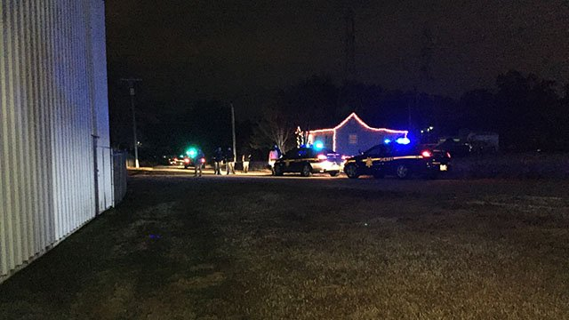 Scene of Greenville County shooting (FOX Carolina/ 12/1/17)