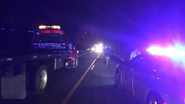Scene of fatal collision on Flat Bridge Road. (12/2/17 FOX Carolina)
