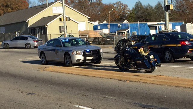 Scene on West Blue Ridge Drive at Agnew Road. (12/3/17 FOX Carolina)