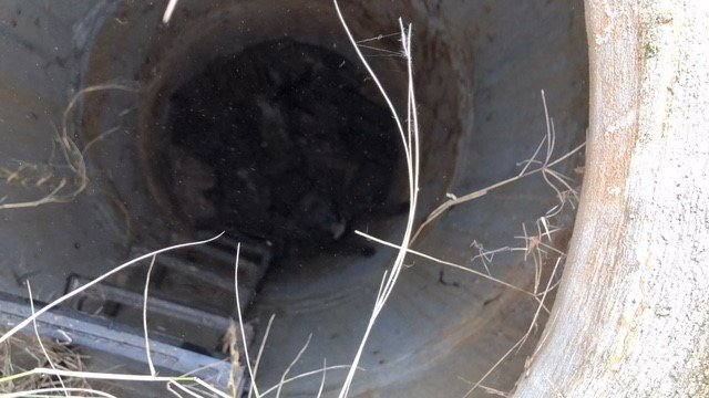 Manhole that Macy was stuck in. (12/4/17 FOX Carolina)